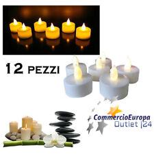 Set 24 Pz Candele Led Lumini Bianchi a Batteria Luce Decorazione dfh
