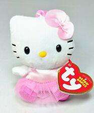 TY Beanie Babies Sanrio Hello Kitty Skirt Clip on Plush Doll Keychain Keyring ~