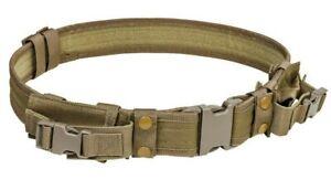 """VISM Tactical Patrol Belt 2"""" w/ Mag Pouches Tactical Vest Duty Belt Rig TAN~"""