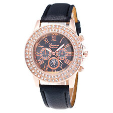 Ladies Womens Bracelet Stainless Steel Crystal Diamonds Analog Quartz WristWatch
