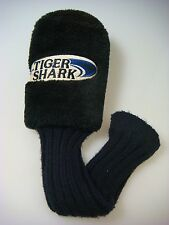 NEW (No Tags) Tiger Shark Black Plush Fairway Wood Golf Club Headcover (B517)