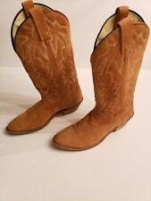 Unbranded Womens Western Leather Suede Tan Boots Size 7.5D