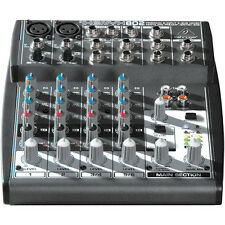 NEW Behringer XENYX 802 8-Input Mixer Board +48V phantom, Power Supply included.