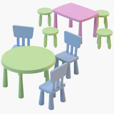 Ikea Mammut Children's Plastic Chairs,Tables & Stools in/outdoor,Many Colours