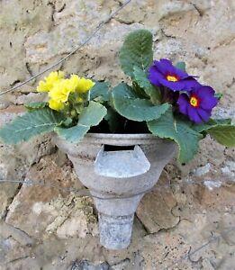 Vintage galvanised gutter hopper/spout,French,plant display,garden,conservatory