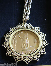 HAWAII COIN ONE DOLLAR TOKEN PENDANT WITH CHAIN IN BOX