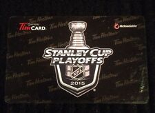 2015 TIM HORTONS STANLEY CUP PLAYOFFS GIFT/TIM CARD NEW