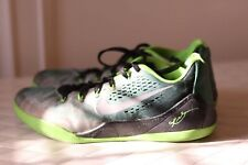Nike Kobe 9 EM Low Green Metallic Silver Black Size 11 Basketball Shoes