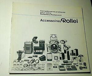 brochure accessoires ROLLEI ROLLEIFLEX ROLLEICORD 15 pages français photographie