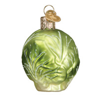 """""""Brussel Sprout"""" (28120)X Old World Christmas Glass Ornament w/ OWC Box"""