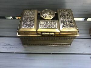LARGE Antique BOX  Brass Pan Dan ornate 6 pieces