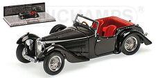 """Bugatti Type 57C Corsica Roadster """"Black"""" 1938 (Minichamps 1:43 / 437 110430)"""