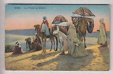 CPA AFRIQUE ALGERIE - LA PRIERE AU DESERT CHAMEAU BEDOUIN  MEHARI TOUAREG ~B67