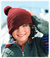 ~ Crochet Pattern per bambino PON PON Pull-On Cappello & robusto Zaino ~ vedi foto
