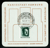 Germany 1937 Commemorative Hamburg Museum Stamp