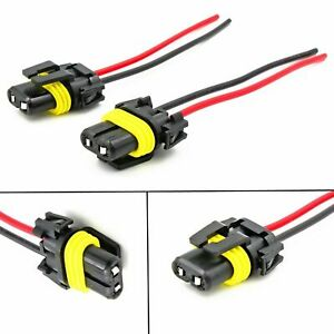 2x 9005 9006 Socket Female Adapter Wiring Harness Pigtail Plug Connector