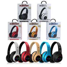 Wireless Bluetooth Headphones Over Ear Stereo LED Bass Earphone Headset Mic Fold
