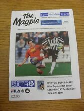 13/09/2012 Maidenhead United v Weston Super Mare  . Unless previously listed in
