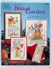 Cross Stitch Pattern Biblical Garden 12 Verse & Flowers