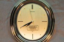 Vintage Seiko SQ Quartz Gold Tone & Clear Acrylic Wall Clock, NOS Seiko QAF073G