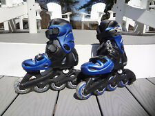 Boys Size 13J-3 Ultra Wheels Rollerblades Inline Skates Transformer Black & Blue