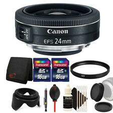 Canon EF-S 24mm f/2.8 STM Lens with 32GB Accessory Kit For Canon DSLR Cameras