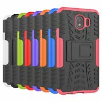 Shockproof Hybrid Armor Rugged Hard Stand Case Cover For Samsung Galaxy J4 2018