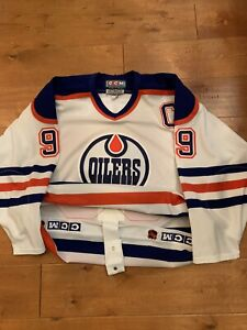 New Gretzky Stitched thowback Vintage  Hockey jersey.Edmonton Oilers