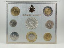 *** LIRE KMS VATIKAN 1999 BU Lira Coin Set Vaticano Münzen vor Euro ***