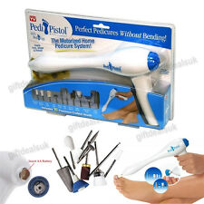 PEDI PISTOL HOME PEDICURE SYSTEM SKIN NAILS TOE TREATMENT WITH 10CRAFTED TOOLKIT