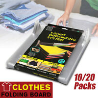 10/20 Packs T Shirt Clothes Folding Board Storage Bags Racks Laundry Organizer