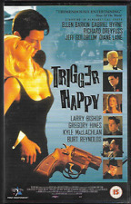TRIGGER HAPPY VHS PAL UK FORMAT BIG BOX ELLEN BARKIN GABRIEL BYRNE BURT REYNOLDS