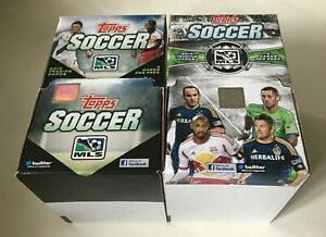 TOPPS MLS SOCCER 2013 & 2014 TRADING CARDS 2 BOX LOT NEW & SEALED