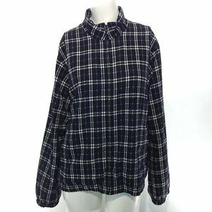EP PRO Women's Long Sleeve Golf Jacket Size Small Black White Plaid Polyester
