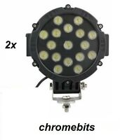 2 X Hohe Energie 12V 24V LED 51W Arbeits Lampe Scheinwerfer Iveco DAF Mann