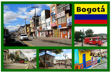BOGOTA, COLOMBIA, SOUTH AMERICA - SOUVENIR NOVELTY FRIDGE MAGNET - SIGHTS / GIFT