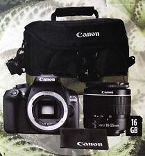 Canon EOS 1300D DSLR Camera  Zoom Lens 18-55mm  100EG Bag 16GB SD Card Brand New