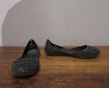 Mel Melissa Campana Girls 2 Sparkle Gray Woven Zig Zag Jelly Flats