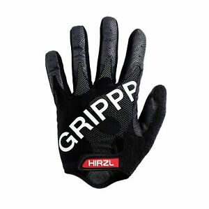 HIRZL Grippp Tour FF 1.0 Leather Bike Gloves, Breathable, Gel Padded, Anti-Slip
