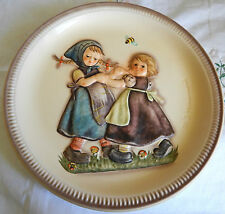 """Spring Dance"" 1980 M. J. Hummel Hand-Painted Plate 10-1/4"" (Peasant Girls, Bee)"
