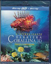 Blu-ray 3D + 2D «L'AFFASCINANTE BARRIERA CORALLINA 3D • PREDE E PREDATORI» nuovo