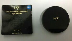 Boots No7 Seven Mirrorball Collection Glitter Eye Palette Blue Silver Pink Black