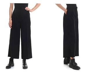YOHJI YAMAMOTO Cropped Black Wool trousers NWT