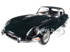 JAGUAR E-TYPE COUPE GREEN SERIES 1 3.8 METAL WIRE WHEELS 1/18 AUTOART 73612
