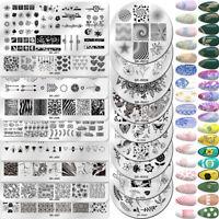 Nagel Schablone Stempel Schablone Schablonen Nail Art Stamping Plate Dekoration