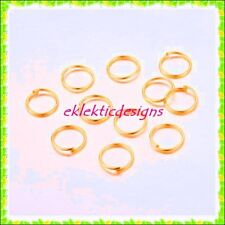 10mm 100pcs Gold Plated Jump Rings Jewelry Findings Open Split Earring Necklace