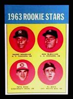 1963 PETE ROSE TOPPS ROOKIE REPRINT CARD MINT CARD REDS #537 QTY...