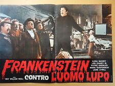1963-FRANKENSTEIN CONTRO L'UOMO LUPO-Cinema-Regia di R.W.Neill-Fotobusta 2