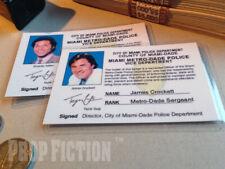 Miami Vice - James Crockett & Ricardo Tubbs Miami Police Prop ID Cards