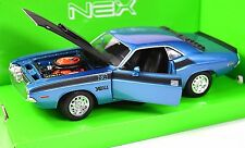 DODGE CHALLENGER T/A 1970 METALLIC BLUE WELLY 24029 1:24 NEW DIECAST MODEL